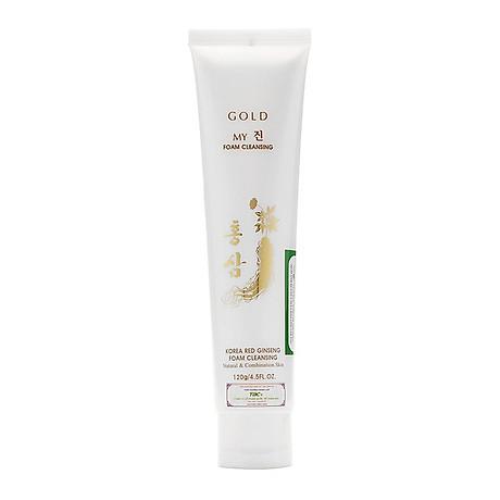 Sữa rửa mặt sâm vàng My gold ngăn ngừa lão hóa 120ml tặng kèm móc khóa 2