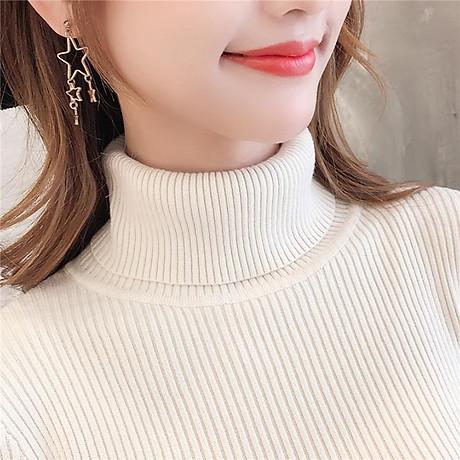 Áo Len Basic Kín Cổ Nữ Chất Liệu Cao Cấp Phong Cách Thời Trang Hàn Quốc Trẻ Trung Sành Điệu-Kem 3