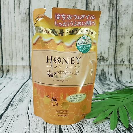 Combo 2 Túi Sữa Tắm Trắng Da Tinh Dầu Thiên Nhiên Và Mật Ong Nhật Bản HONEY OIL 400ML 1