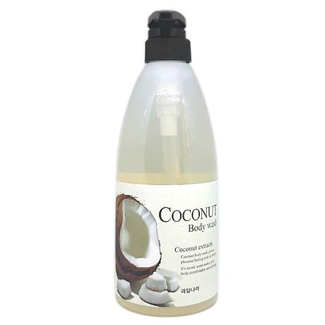 Sữa tắm tinh chất dừa Welcos Coconut Body Cleanser Hàn Quốc 740g + Móc khóa 2