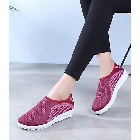 Giày lười nữ phong cách êm chân thoáng khí (full size full box) - chữ V - Size 36 đến 40 - V124 2