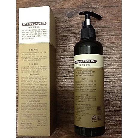 Dầu gội thảo dược Legitime Rich Moisture Shampoo sạch gàu Hàn Quốc 300ml Tặng Móc khóa 5