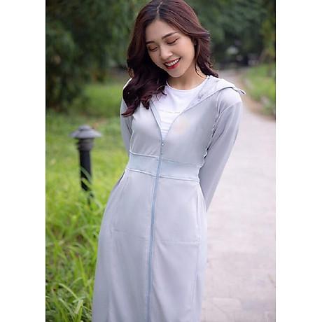Áo chống nắng nữ liền thân, vải dày, dài tới gót chân, chống tia UV 6