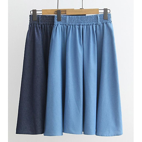 Chân váy Denim kèm thắt lưng chất thoáng mát free size VAY02 5