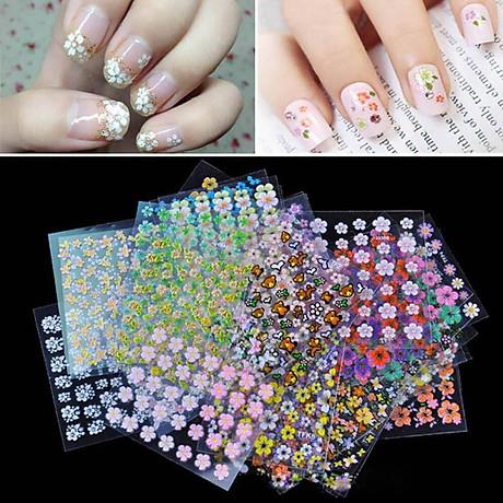 Combo 10 tấm decal dán móng nghệ thuật Nail art Enjoy J350 5