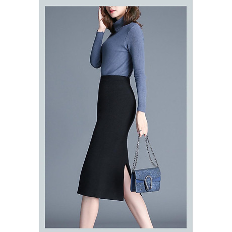 Chân váy bút chì xẻ tà Haint Boutique Cv12 2