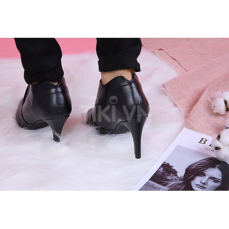 Giày Boot Nữ Cổ Thấp Rosata RO35 - Đen 6