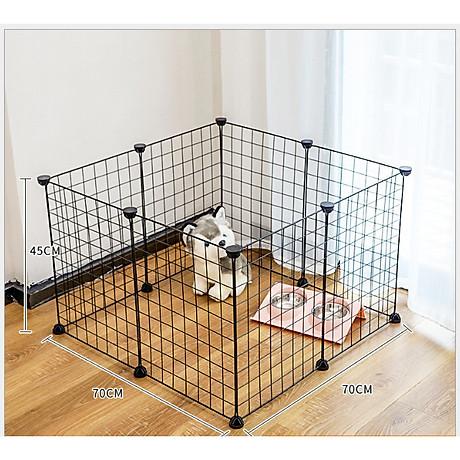 Chuồng lồng chó mèo- chuồng quây cho thú cưng, miếng ghép tĩnh điện, lắp ghép dễ dàng 1