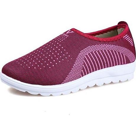 Giày lười nữ phong cách êm chân thoáng khí (full size full box) - chữ V - Size 36 đến 40 - V124 1