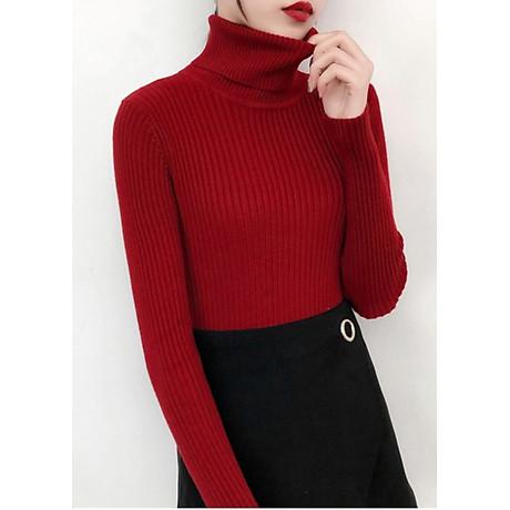 Áo len nữ cổ lọ ARCTIC HUNTER màu đỏ 1