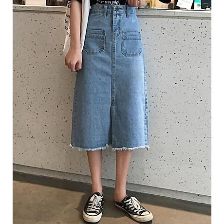 Chân váy JEAN nữ dáng dài dễ thương - CV09 5
