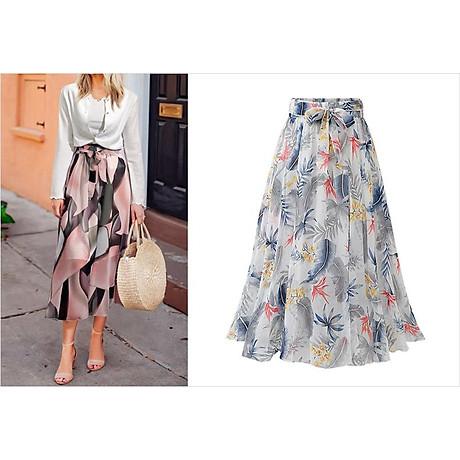 Chân váy voan mềm tung bay phong cách Vintage Châu Âu VAY66 free size 2