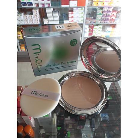 Phấn trang điểm khoáng chất vitamin E, kiểm soát dầu MiraCulous Hàn Quốc 22g tặng kèm móc khoá 3