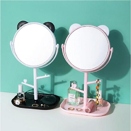 Gương trang điểm tai mèo tròn xoay 360 độ 6