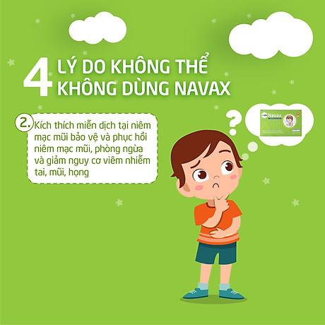 Lợi khuẩn Navax vệ sinh và ngừa viêm tai, mũi, họng bảo vệ và phục hồi niêm mạc mũi của trẻ 3