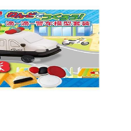 Bộ đồ chơi đất nặn bằng bột gạo Mô hình xe cảnh sát GINCHO 1
