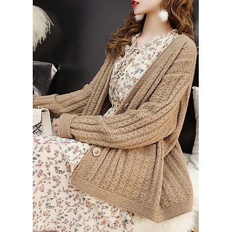 Áo khoác len dáng dài kiểu áo khoác đơn giản phối túi GOTI 1867 2