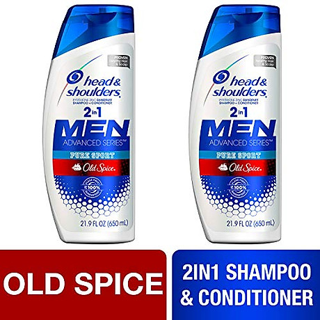 Dầu gội và xả Head & Shoulders Men 2in1 Old Spice Pure Sport 650ml 2