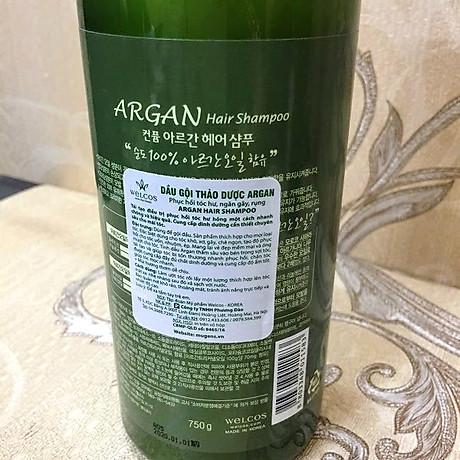 Dầu gội đầu Confume Argan Oil Hair tinh chất thảo dược Hàn Quốc 750ml + Móc khóa 7