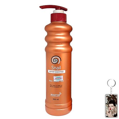 Dầu Gội Siêu Phục Hồi & Lưu Hương Sophia Profesional Snail Repair Shampoo Hàn Quốc 500ml tặng kèm móc khoá 1