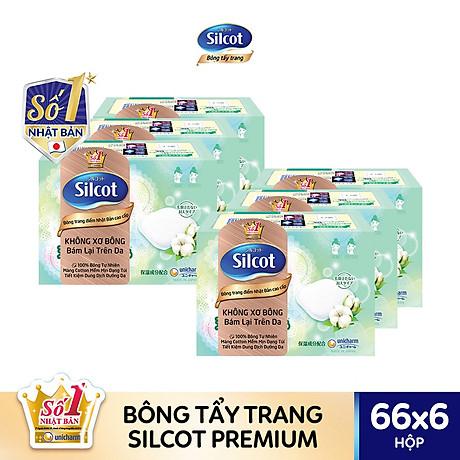 Combo 6 hộp bông tẩy trang cao cấp Silcot Premium 66 miếng hộp 1