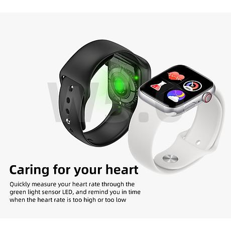 Đồng hồ thông minh Smart Watch theo dõi sức khỏe Watch 5 theo dõi nhịp tim vận động ( Giao màu ngẫu nhiên) 6
