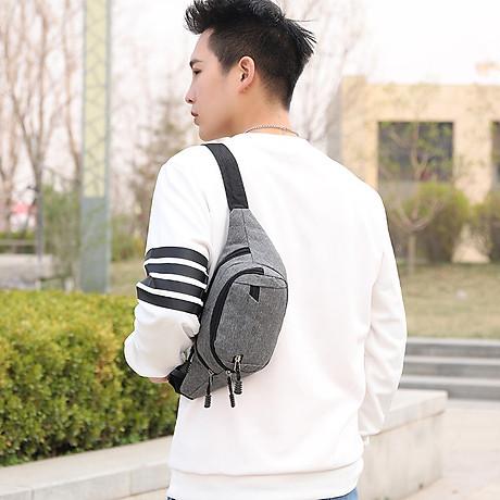 Túi đeo chéo bao tử nam nữ thời trang nhiều ngăn MIBAG41 8