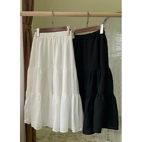 Chân váy xòe dáng dài chất đẹp, dễ thương 2 tầng cạp chun 6