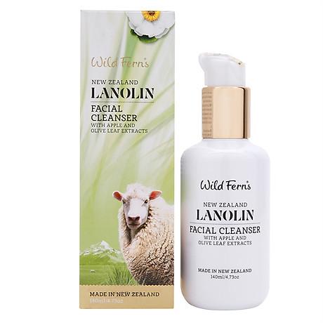 Sữa Rửa Mặt Tạo Bọt Lanolin Táo Và Dầu Ôliu Wild Ferns 3