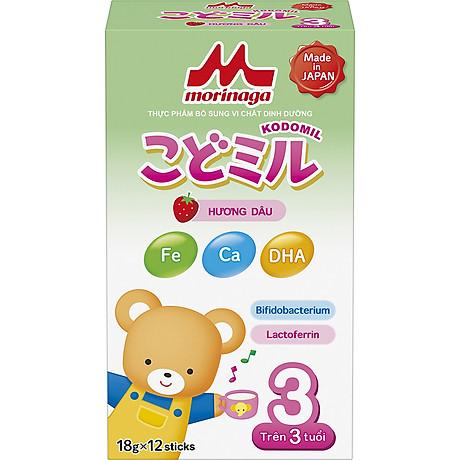 Combo 2 hộp Sữa Morinaga số 3 Hương dâu (Kodomil) 216g 2