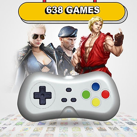 Máy Chơi Game 4 Nút HDMI Chơi Game PS1,Station Trên Tivi,Máy Trò Chơi Điện Tử Không Dây, Máy Game Stick 4K Điện Tử 4 Nút ( Tặng chai dầu tràm hoa nén) giao theo màu ngẫu nhiêni 6