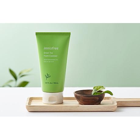 Sữa rửa mặt làm sạch từ trà xanh đảo Jeju Innisfree Green Tea Foam Cleanser 150ml - NEW 3