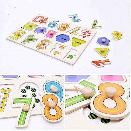 Đồ chơi bảng ghép hình núm gỗ Bảng gỗ có núm cho bé loại to đẹp 22 30cm nhiều chủ đề 3