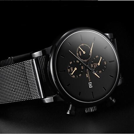 Đồng hồ nam business VINIEL thiết kế economicxi chất liệu dây thép phong cách thanh lịch VE118 Hàng Chính Hãng 5