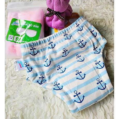 Combo 3 Quần bỏ bỉm cao cấp vải cotton 6 lớp siêu thấm, thoáng mát hiệu goodmama cho Bé trai từ 5-17 kg. 5