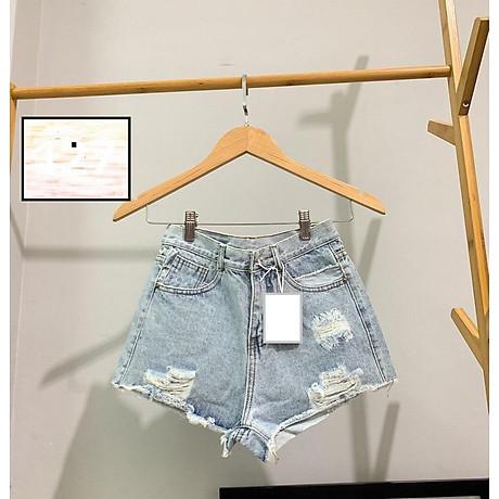 Quần short nữ lưng cao Julido S15 chất jean, một màu, ba kích thước thời trang trẻ trung 4