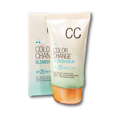 Kem nền hiệu chỉnh màu da và chống tia UV SPF 25 PA+ + Hàn Quốc welcos color change blemish balm (welcos) 1