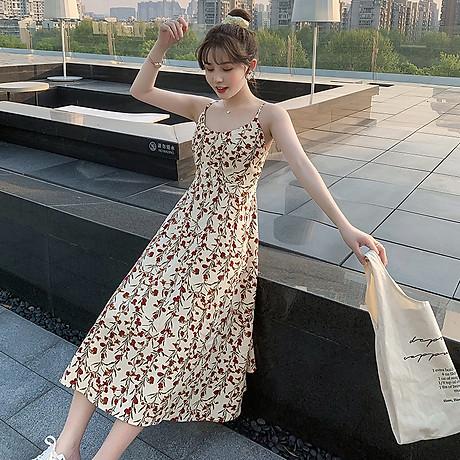 Váy 2 dây dáng dài, chất liệu vải cao cấp nhẹ nhàng thoáng mát,phù hợp đi biển đi chơi ngày hè 2