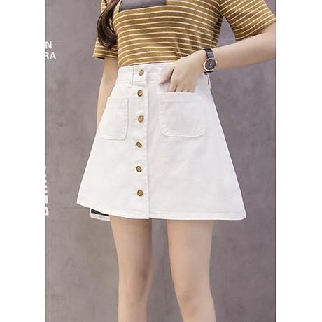Chân váy chữ A LAHstore, chất liệu vải jeans thô bền bỉ, phong cách Hàn Quốc, thời trang trẻ 3
