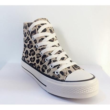 Giày cao cổ vằn đen 6