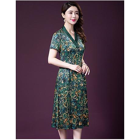 Đầm quý bà lụa Cao Cấp Sang Trọng - HATI DN9046 7