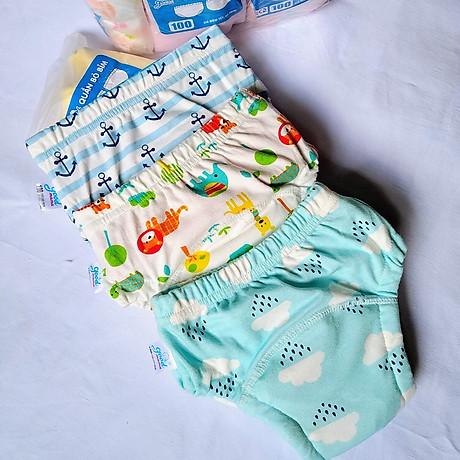 Combo 3 Quần bỏ bỉm cao cấp vải cotton 6 lớp siêu thấm, thoáng mát hiệu goodmama cho Bé trai từ 5-17 kg. 4