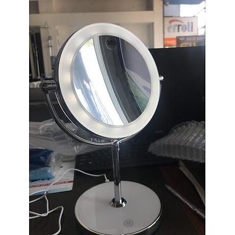 Gương trang điểm đặt bàn led xoay 2 mặt RM160-DL 3