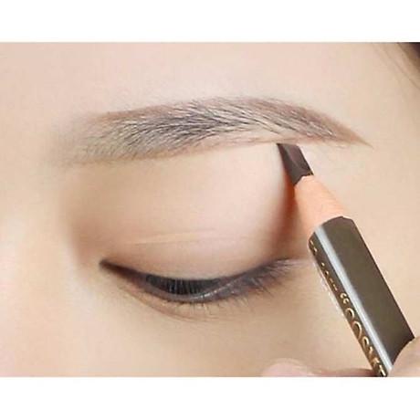 Chì mày xé Suri Eyebrow Pencil Hàn Quốc No.101 Black tặng kèm móc khoá 8