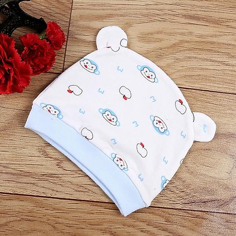 Combo 2 Mũ Che Thóp Cotton Mềm Cho Trẻ Sơ Sinh 0-6 Tháng - Họa Tiết Bé Gái 6