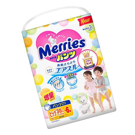 Tã bỉm quần Merries size XL - 38 + 6 miếng (Cho bé 12 - 22kg) 3