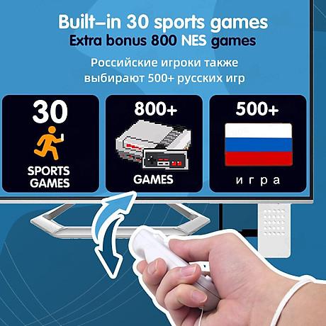 Bộ điều khiển game stick HDMI vận động thực tế 830 game Kết nối tivi 2 người chơi, Tải thêm game qua thẻ TF bộ stick fit nhỏ gọn tiện lợi - bản nâng cấp. 8