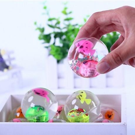 Quả bóng trong suốt có đèn và con cá đồ chơi cho bé PKS màu sắc ngẫu nhiên 2