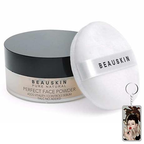 Phấn phủ bột Beauskin Perfect Face Powder Hàn Quốc 30g 21 Natural Beige tặng kèm móc khoá 1