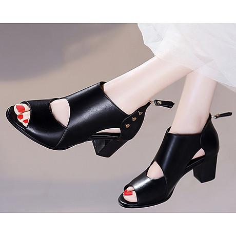 Giày Boots Cao Cổ Nạm Kim Loại Monte 7